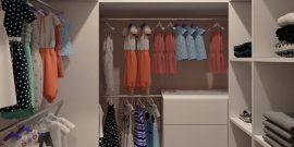 Интерьер гардеробной комнаты площадью 2 кв. м