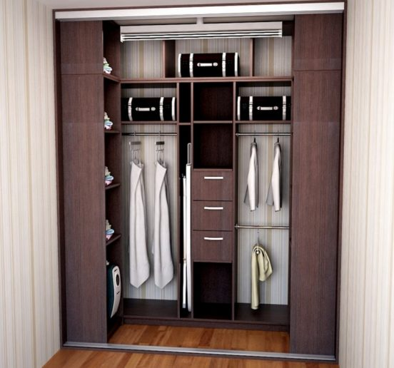 интерьер гардеробной комнаты 2 кв м