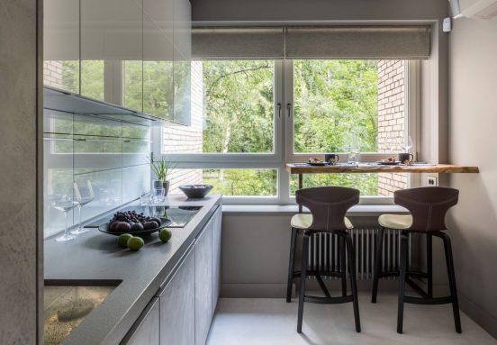 Минимум мебели на кухне