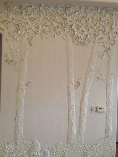 Декор неровной стены