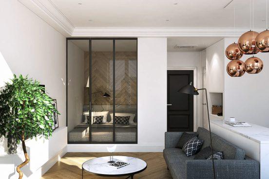 Однокомнатная квартира с зоной для сна