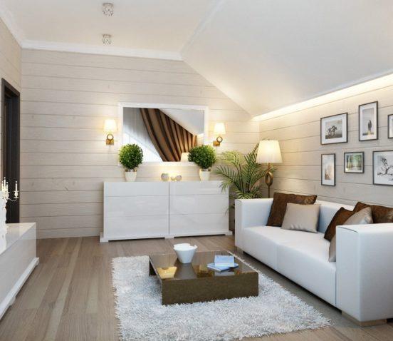 Белая древесина в интерьере