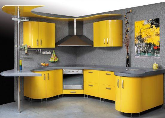 Крашеные фасады на кухне