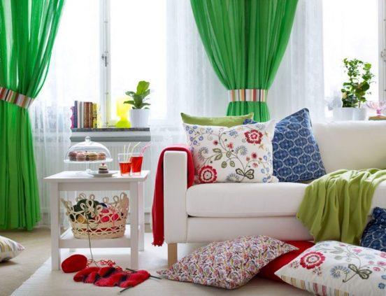 Яркий текстиль в интерьере
