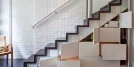 Лестница с системой хранения: оригинальные идеи для грамотной организации пространства