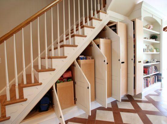лестница с системой хранения