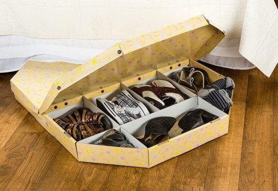 Самодельный кофр для хранения обуви под кроватью