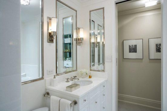 Ванная с зеркалами