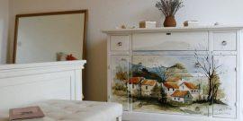 Краска, ткань, газеты и другие способы обновить фасад шкафа