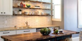 Как расположить полки на кухне: фотосоветы