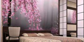 3D-фотообои в спальне: подборка идей