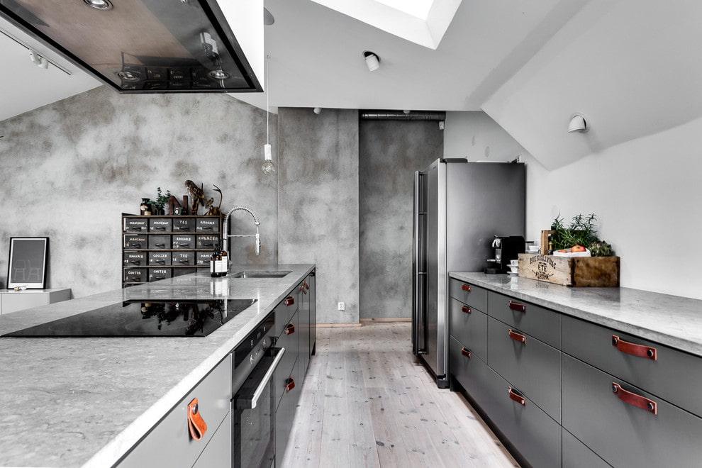 которые дают кухни под бетон фото новый потолок
