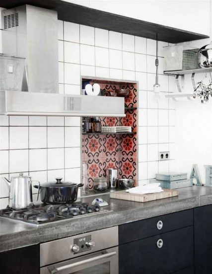 Столешница из бетона в кухне