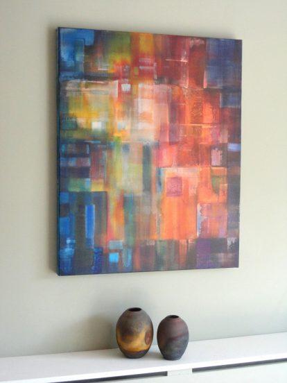 Яркая абстрактная картина