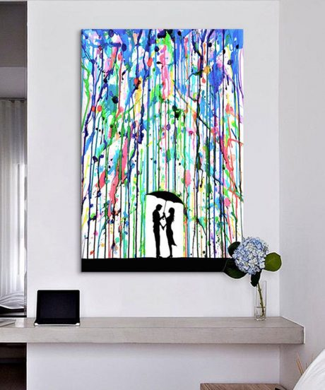 Абстрактная картина с яркими штрихами
