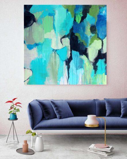 Рисунок в бирюзово-голубых тонах