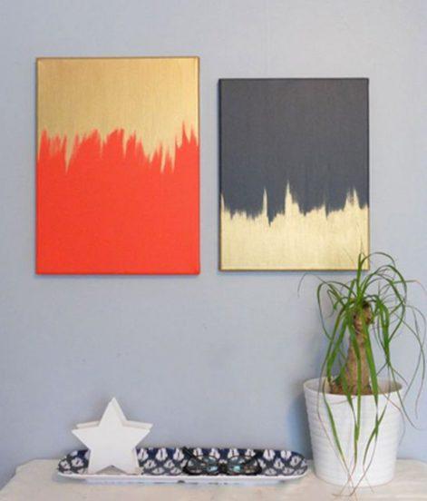 Двухветные абстрактные картины
