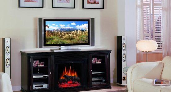 Телевизор на камине
