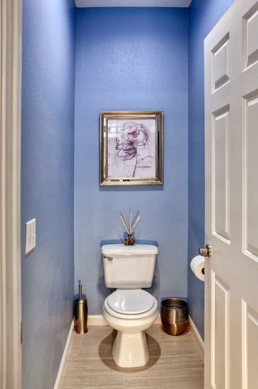 Отделка туалета краской