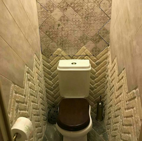 Отделка туалета декоративной штукатуркой