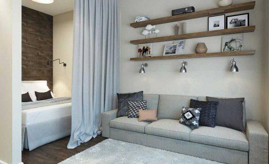 Отделение спальной зоны от гостиной