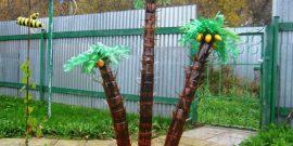 Пальмы из пластиковых бутылок для сада: мастер-класс