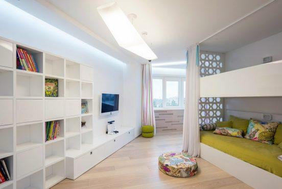 Зонирование комнаты с помощью кровати