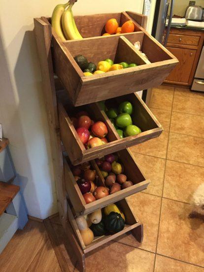 Многоуровневые ящики для хранения овощей