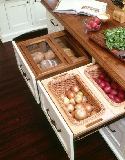 Отсек для овощей в гарнитуре