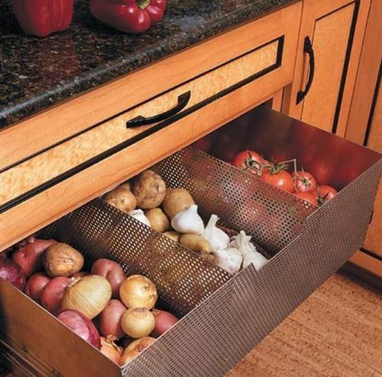 Металлическая сетка для хранения фруктов и овощей