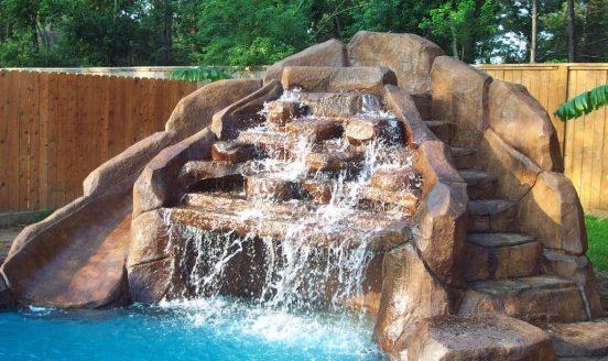 Водопад с горкой для бассейна