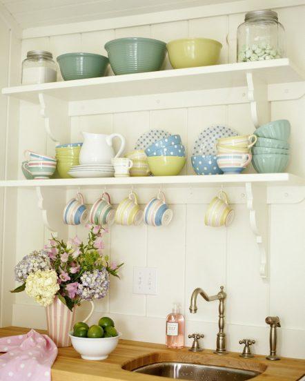 Декор белой кухни