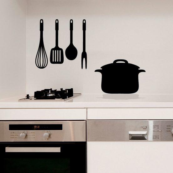 Декор кухни наклейками