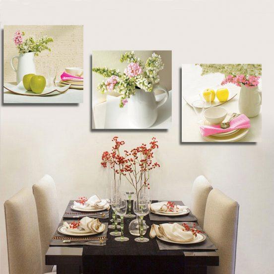 Декор кухни тематическими фотографиями