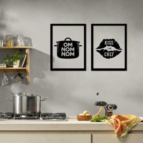 Декор кухни постерами