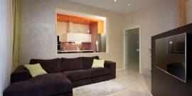 Дизайн гостиной без окна: фото-примеры