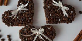 Сердечки-магниты из кофейных зёрен: пошаговая инструкция