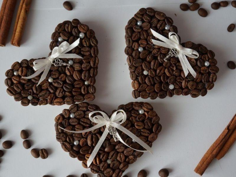 Кофейные магнитики «Черепашки» и «Сердечки» (мастер-класс)