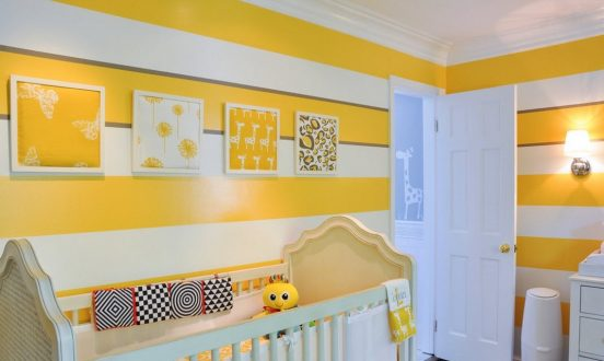 Жёлтый цвет в интерьере детской