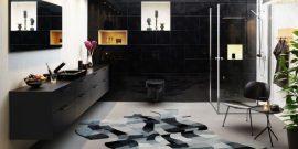 Чёрный унитаз в интерьере: стильные и модные примеры на фото