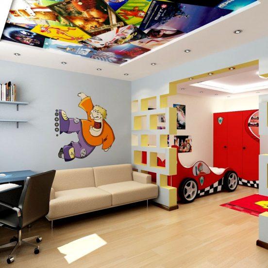 Потолок с принтом кино и мультфильмов