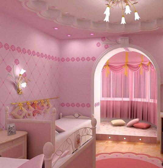 Потолок комнаты девочки