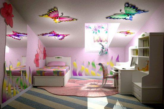 Потолок в виде бабочек