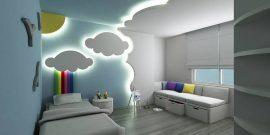 Дизайн натяжных потолков в детскую комнату
