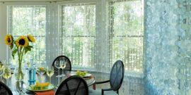 Оформление окна без штор: оригинальные способы на фото