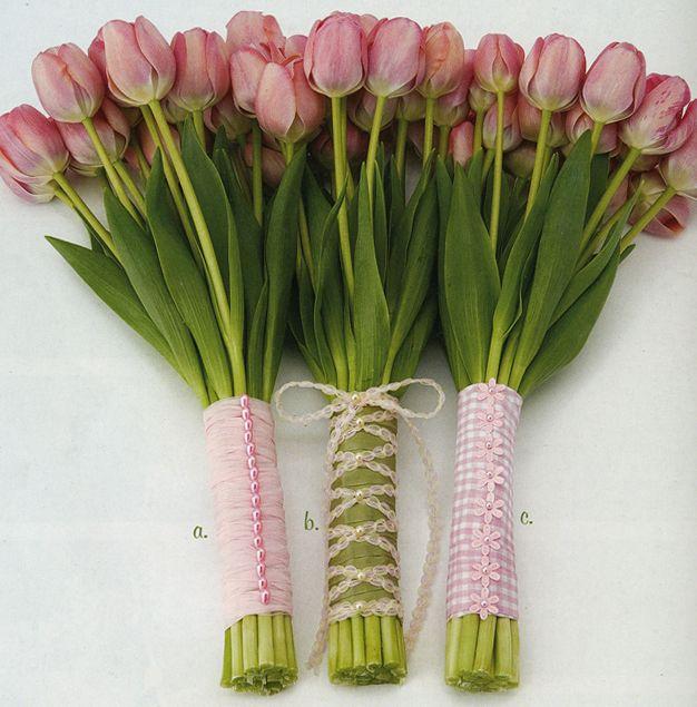 как красиво упаковать тюльпаны своими руками фото того, чтобы