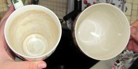 Как убрать чайный налёт с кружек и ложек подручными средствами