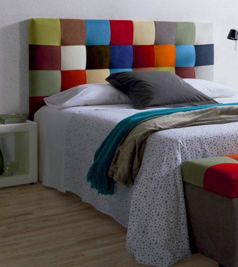 Изголовье кровати в стиле пэчворк