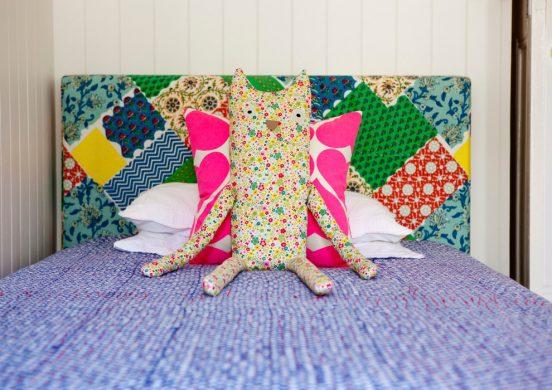 Изголовье детской кровати в стиле пэчворк