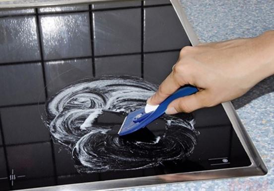 Очистка керамической плиты